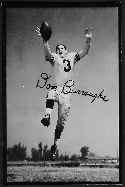 1955 Rams Team Issue #3 - Don Burroughs - ex