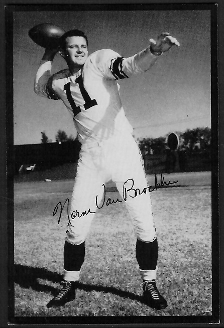 1955 Rams Team Issue #34 - Norm Van Brocklin - exmt