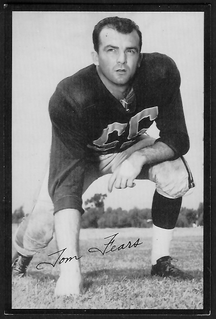 1955 Rams Team Issue #7 - Tom Fears - ex
