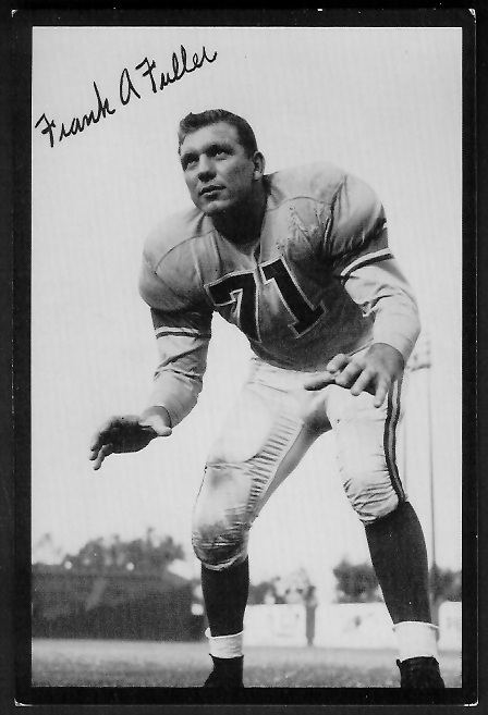 1955 Rams Team Issue #9 - Frank Fuller - ex