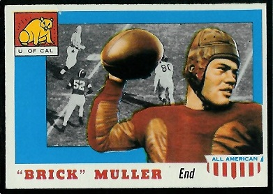 1955 Topps All-American #22 - Brick Muller - ex+