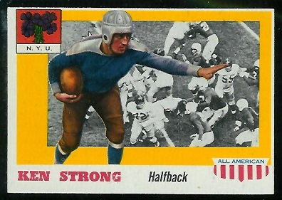 1955 Topps All-American #24 - Ken Strong - nm-mt oc