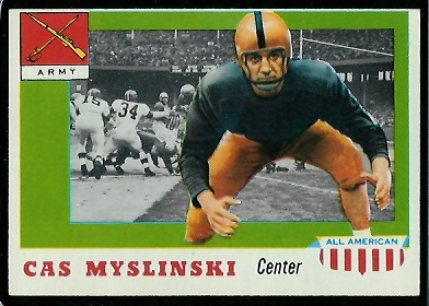 1955 Topps All-American #25 - Cas Myslinski - nm oc