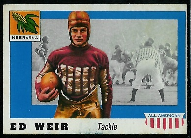 1955 Topps All-American #3 - Ed Weir - ex
