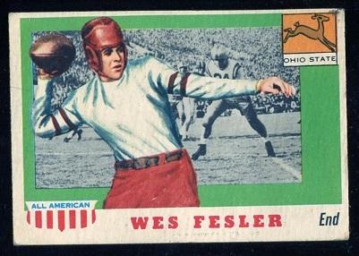 1955 Topps All-American #30 - Wes Fesler - ex