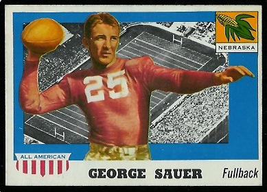 1955 Topps All-American #31 - George Sauer Sr. - ex