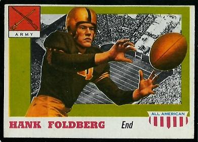 1955 Topps All-American #32 - Hank Foldberg - exmt