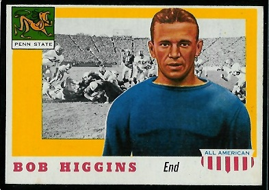 1955 Topps All-American #33 - Bob Higgins - ex
