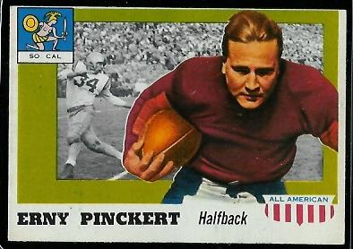 1955 Topps All-American #4 - Erny Pinckert - ex