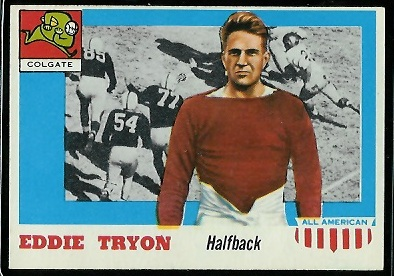 1955 Topps All-American #42 - Eddie Tryon - exmt