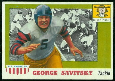 1955 Topps All-American #43 - George Savitsky - exmt