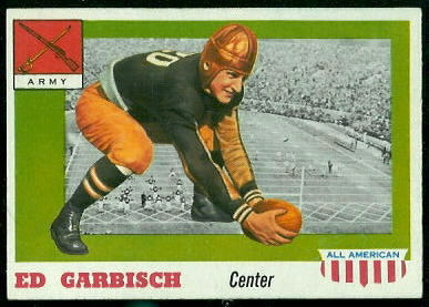1955 Topps All-American #44 - Ed Garbisch - exmt