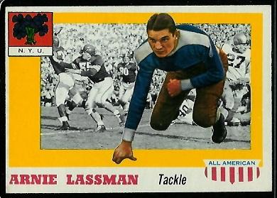 1955 Topps All-American #46 - Arnie Lassman - exmt