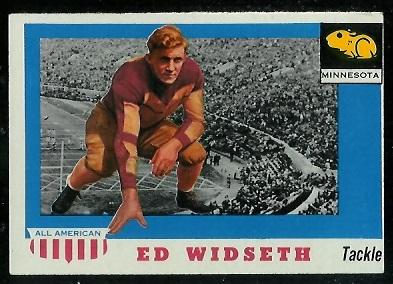 1955 Topps All-American #48 - Ed Widseth - exmt oc