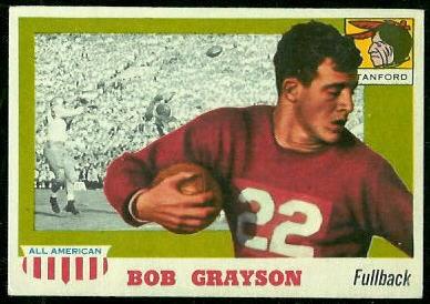 1955 Topps All-American #5 - Bob Grayson - ex+