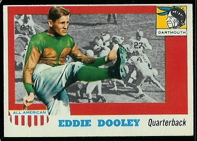 1955 Topps All-American #54 - Eddie Dooley - nm oc