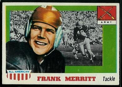 1955 Topps All-American #55 - Frank Merritt - ex