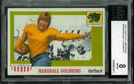 1955 Topps All-American #89 - Marshall Goldberg - BVG 8