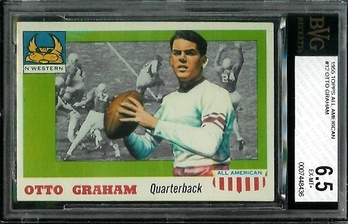 1955 Topps All-American #12 - Otto Graham - BVG 6.5