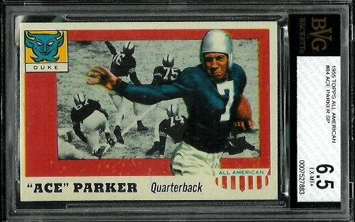 1955 Topps All-American #84 - Ace Parker - BVG 6.5