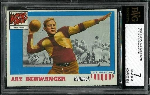 1955 Topps All-American #78 - Jay Berwanger - BVG 7