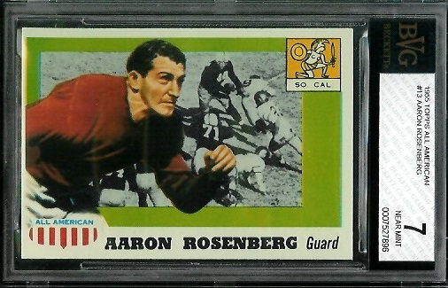 1955 Topps All-American #13 - Aaron Rosenberg - BVG 7