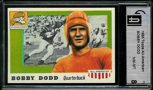 1955 Topps All-American #11 - Bobby Dodd - GAI 8