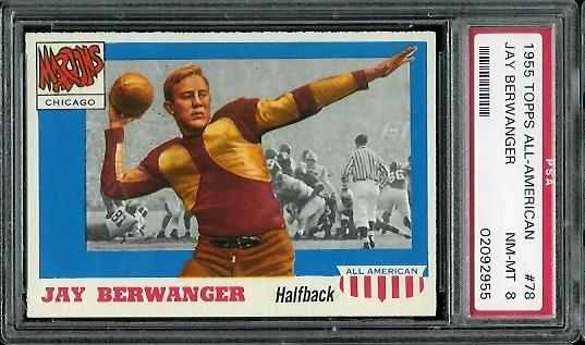 1955 Topps All-American #78 - Jay Berwanger - PSA 8