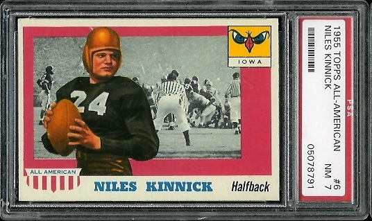 1955 Topps All-American #6 - Nile Kinnick - PSA 7