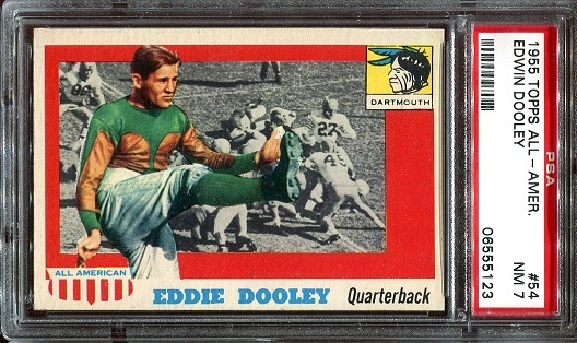 1955 Topps All-American #54 - Eddie Dooley - PSA 7