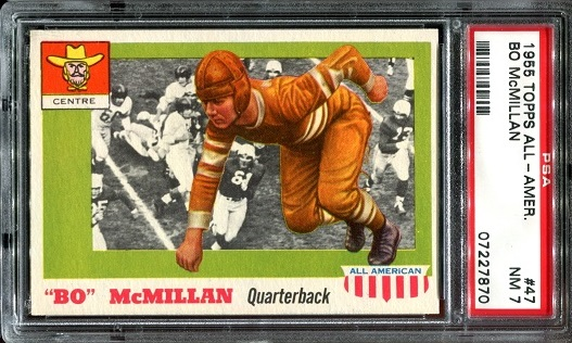 1955 Topps All-American #47 - Bo McMillin - PSA 7
