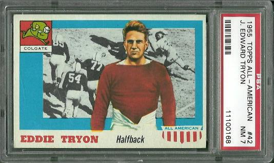 1955 Topps All-American #42 - Eddie Tryon - PSA 7