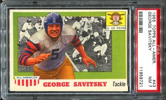 1955 Topps All-American #43 - George Savitsky - PSA 7
