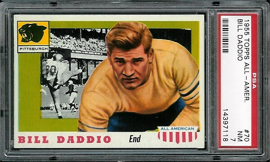 1955 Topps All-American #70 - Bill Daddio - PSA 7