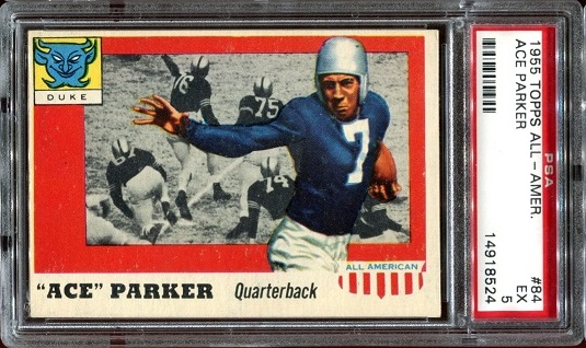 1955 Topps All-American #84 - Ace Parker - PSA 5