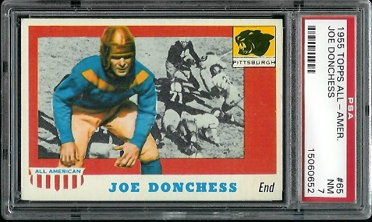 1955 Topps All-American #65 - Joe Donchess - PSA 7