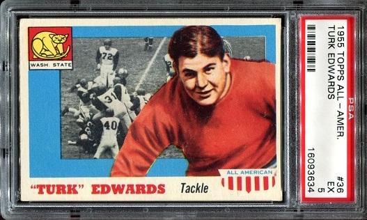 1955 Topps All-American #36 - Turk Edwards - PSA 5