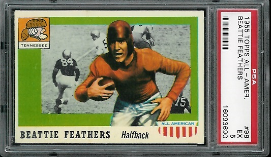 1955 Topps All-American #98 - Beattie Feathers - PSA 5