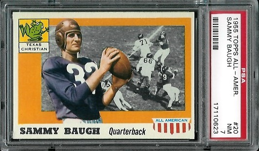 1955 Topps All-American #20 - Sammy Baugh - PSA 7