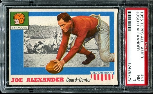 1955 Topps All-American #41 - Joe Alexander - PSA 7