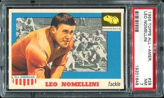 1955 Topps All-American #29 - Leo Nomellini - PSA 7