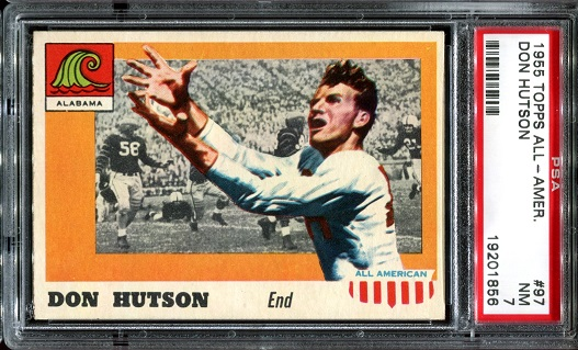 1955 Topps All-American #97 - Don Hutson - PSA 7