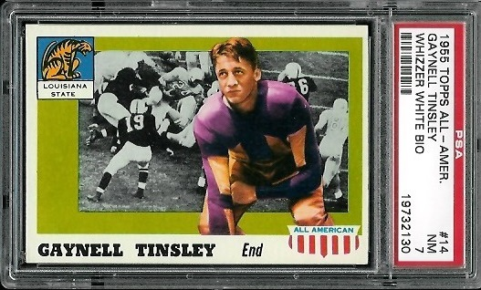 1955 Topps All-American #14err - Gaynell Tinsley - PSA 7