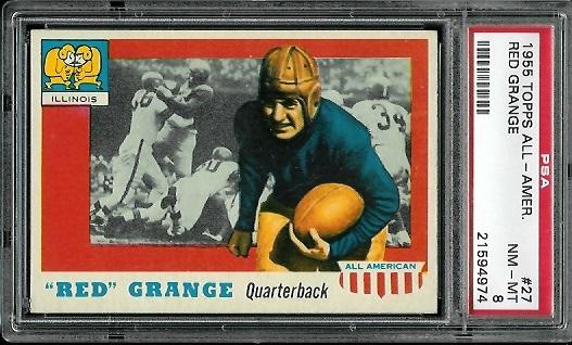 1955 Topps All-American #27 - Red Grange - PSA 8