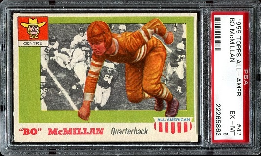 1955 Topps All-American #47 - Bo McMillin - PSA 6