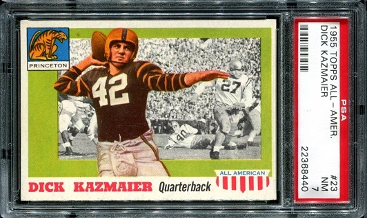 1955 Topps All-American #23 - Dick Kazmaier - PSA 7