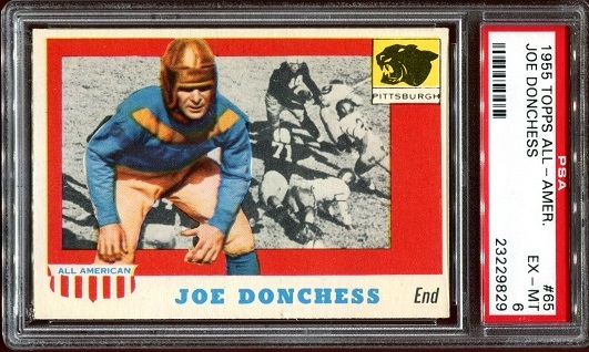 1955 Topps All-American #65 - Joe Donchess - PSA 6
