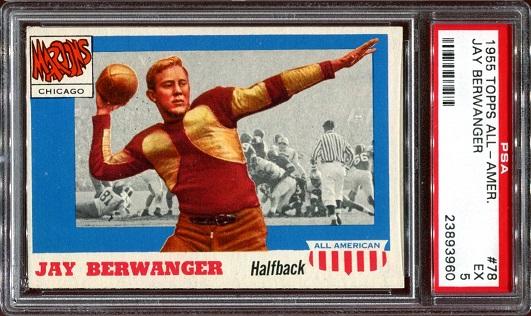 1955 Topps All-American #78 - Jay Berwanger - PSA 5