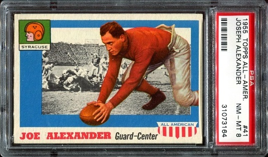 1955 Topps All-American #41 - Joe Alexander - PSA 8
