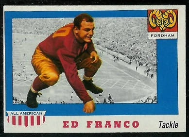 1955 Topps All-American #58 - Ed Franco - nm oc